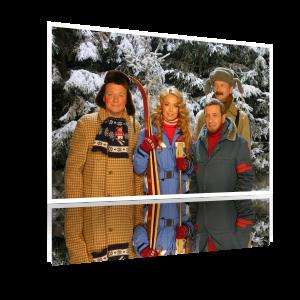 Это не мама, а Жанна Фриске к нам на лыжах пришла!